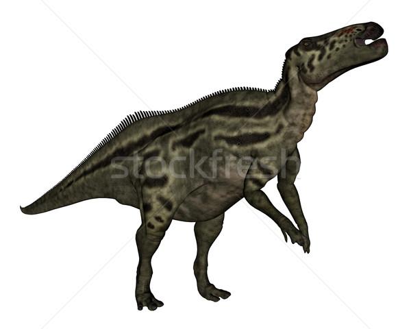 Stock photo: Shantungosaurus dinosaur - 3D render