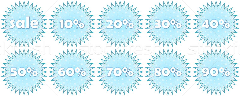 Set of winter sale icons Stock photo © Elenarts