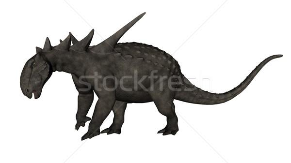 Dinosaurus 3d render geïsoleerd witte natuur kunst Stockfoto © Elenarts