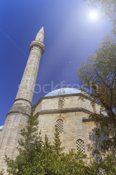 Mezquita edificio azul piedra orar Foto stock © Elenarts