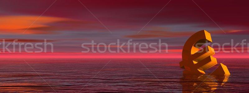Euro válság arany vizbefulladás Vörös-tenger égő Stock fotó © Elenarts