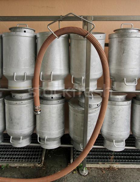 Süt mandıra birkaç duvar Metal Stok fotoğraf © Elenarts