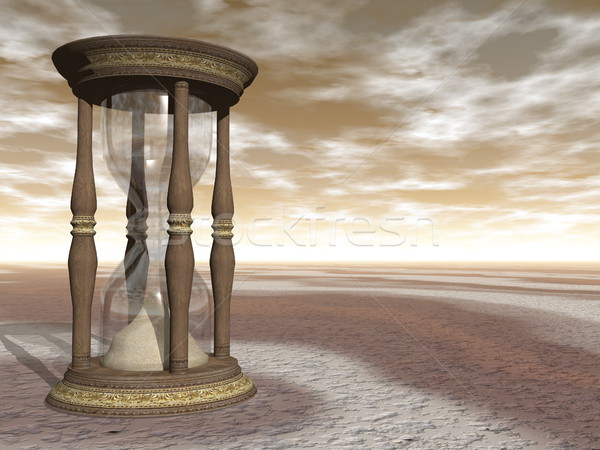 Hourglass - 3D render Stock photo © Elenarts