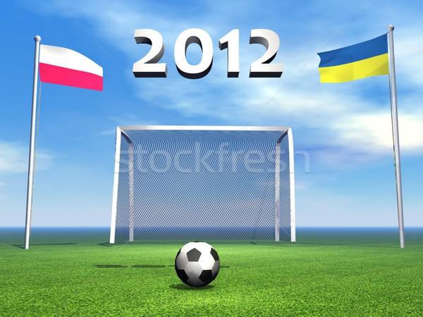 2012 europejski piłka nożna mistrzostwo Polska Ukraina Zdjęcia stock © Elenarts