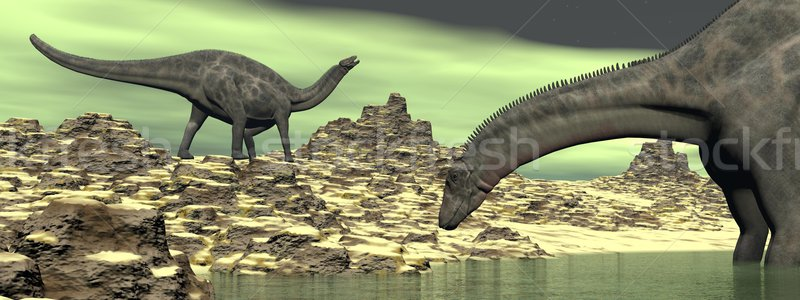 Dicraeosaurus dinosaur - 3D render Stock photo © Elenarts