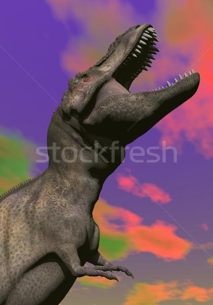 Tyrannosaurus shouting - 3D render Stock photo © Elenarts