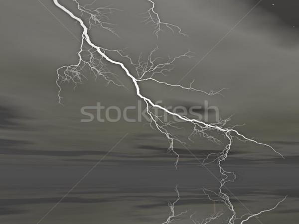 Lightning - 3D render Stock photo © Elenarts