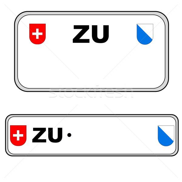 Zürih plaka numara İsviçre geri Stok fotoğraf © Elenarts