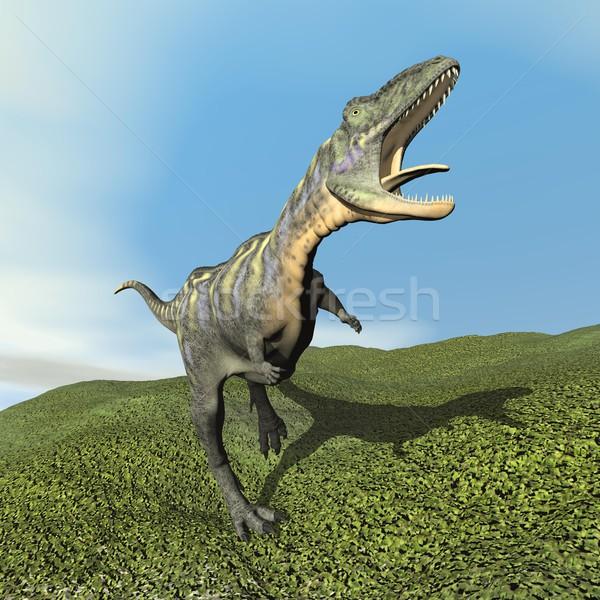 Aucasaurus dinoasaur roaring - 3D render Stock photo © Elenarts