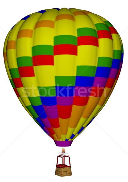 Balonem 3d kolorowy odizolowany biały niebo Zdjęcia stock © Elenarts
