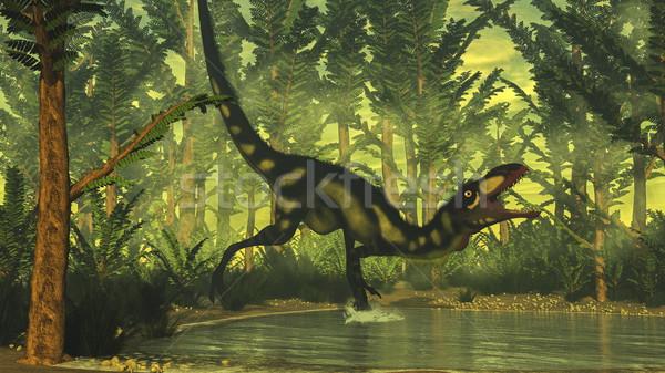Stock photo: Dilong dinosaur - 3D render