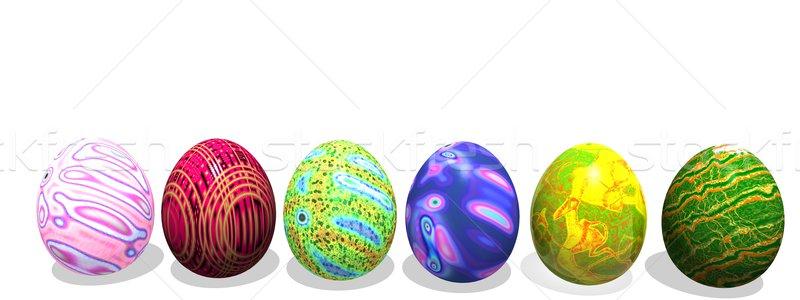 Easter colored eggs Stock photo © Elenarts
