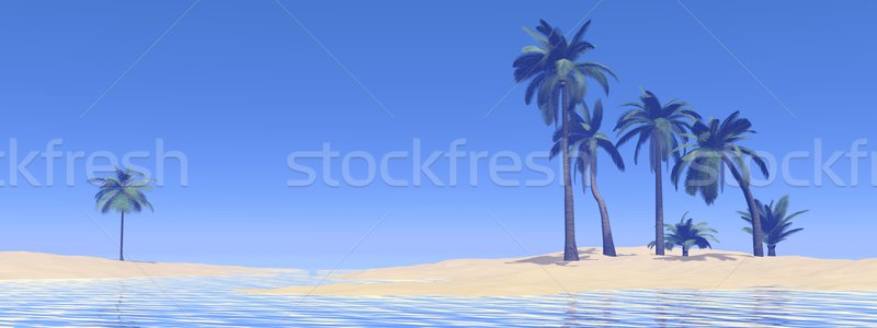 Paradise island - 3D render Stock photo © Elenarts
