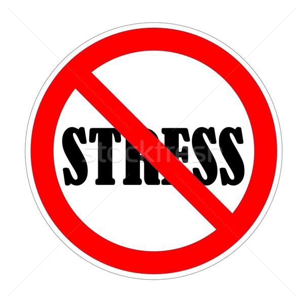 Stress forbidden Stock photo © Elenarts