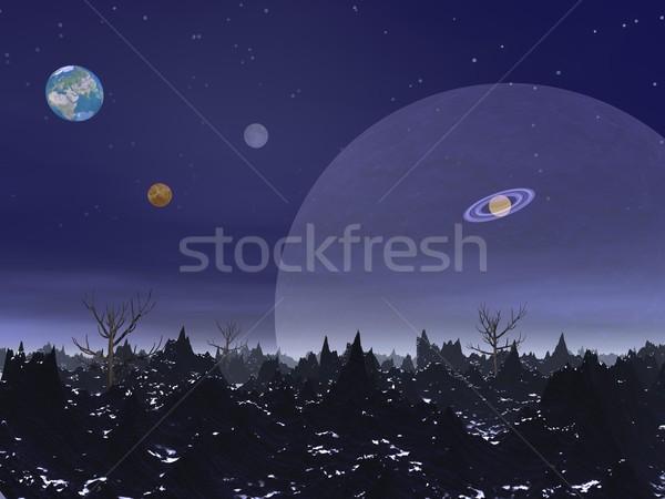 Fantasy landscape Stock photo © Elenarts