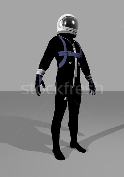 Mercury space suit - 3D render Stock photo © Elenarts