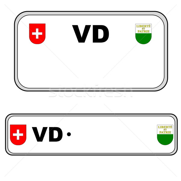 Plaka numara İsviçre geri sayılar Stok fotoğraf © Elenarts
