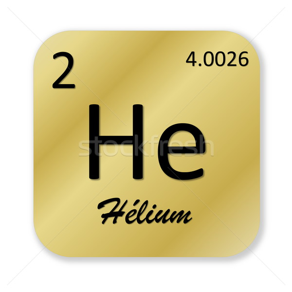 Helium element, french Stock photo © Elenarts