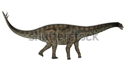 Dinosaurio caminando 3d blanco naturaleza dientes Foto stock © Elenarts