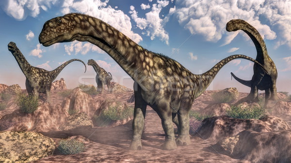 Argentinosaurus dinosaurs - 3D render Stock photo © Elenarts