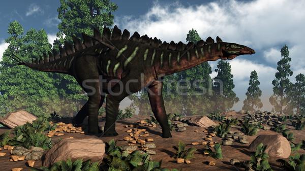 Miragaia dinosaur - 3D render Stock photo © Elenarts