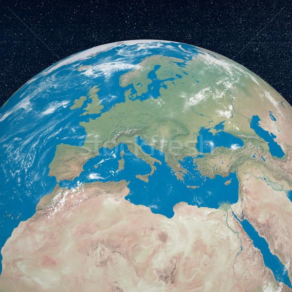 Mediterranean countries - 3D render Stock photo © Elenarts