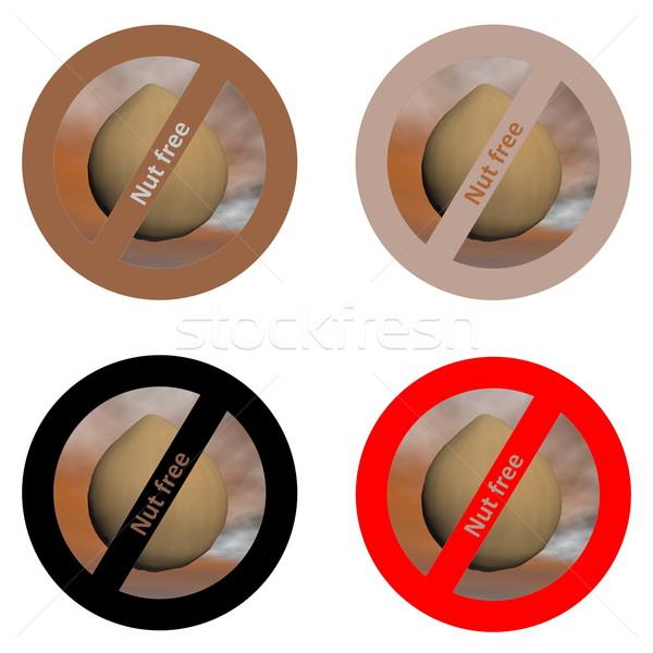 Pegatinas tuerca libre productos cuatro blanco Foto stock © Elenarts