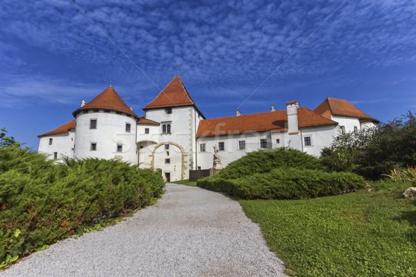 Velho castelo Croácia maneira belo manhã Foto stock © Elenarts