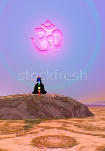 Chakras in meditation Stock photo © Elenarts