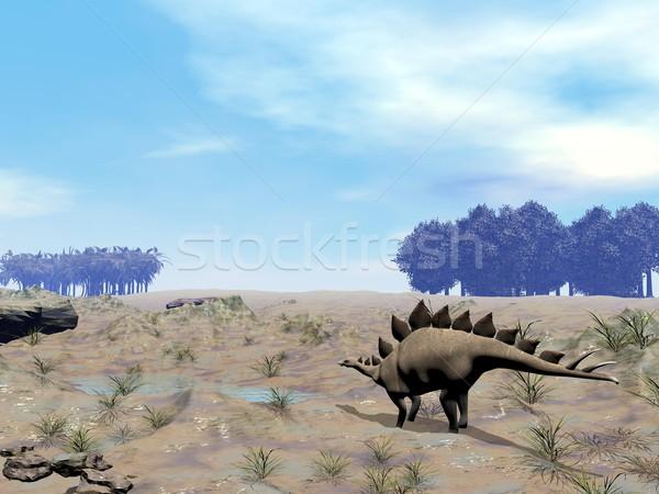 Stegosaurus looking for water Stock photo © Elenarts