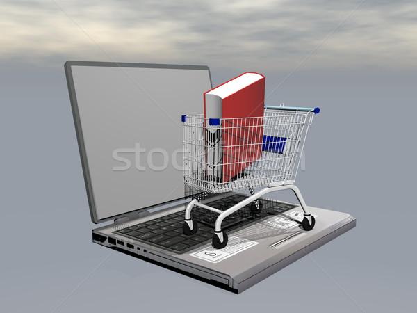 E-shopping for book - 3D render Stock photo © Elenarts