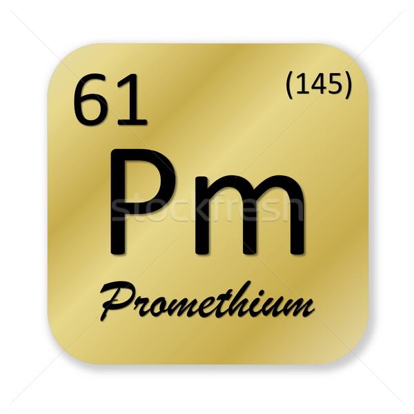 Promethium element Stock photo © Elenarts