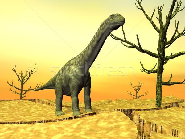 Argentinosaurus dinosaur in the wild Stock photo © Elenarts