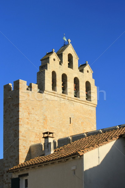Church of Saintes-Maries-de-la-mer, France Stock photo © Elenarts