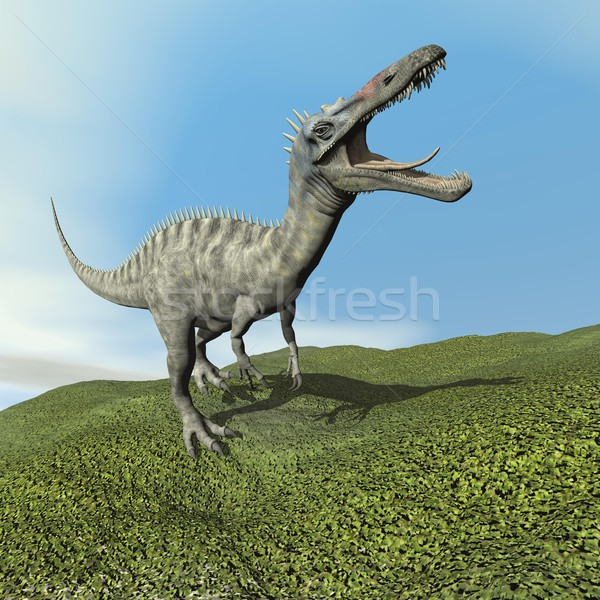 Suchomimus dinoasaur roaring - 3D render Stock photo © Elenarts