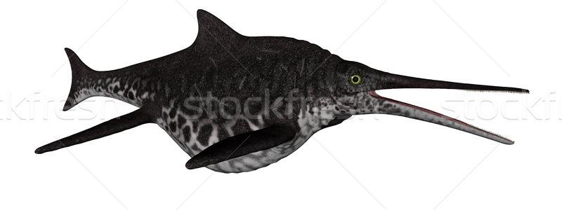 Dinosaurio peces 3d aislado blanco fondo Foto stock © Elenarts