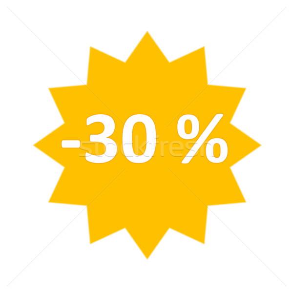 30 yüzde satış ikon altın star Stok fotoğraf © Elenarts