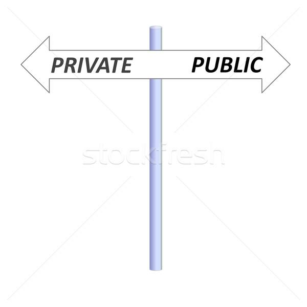 Private or public Stock photo © Elenarts