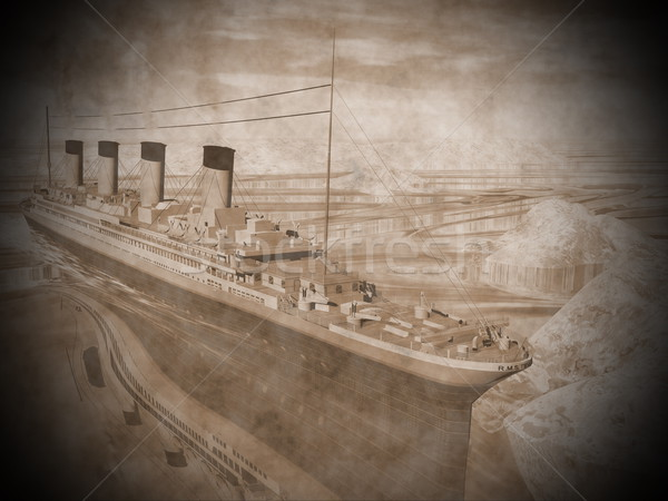 Stock photo: Titanic ship - 3D render