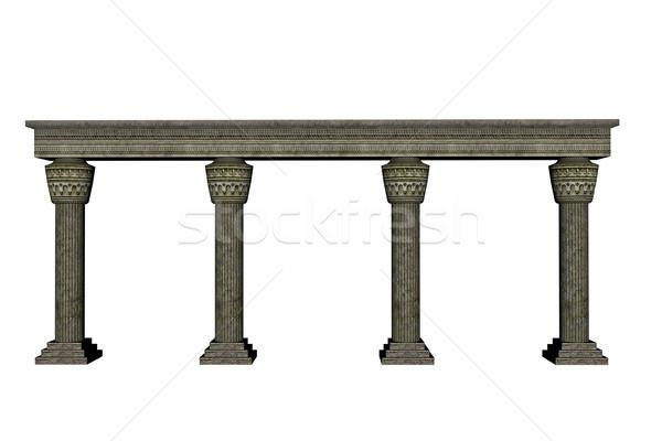 Column wall - 3D render Stock photo © Elenarts