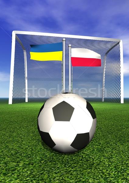 2012 europese voetbal kampioenschap Polen Oekraïne Stockfoto © Elenarts