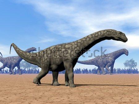 Spinosaurus dinosaurs walk - 3D render Stock photo © Elenarts