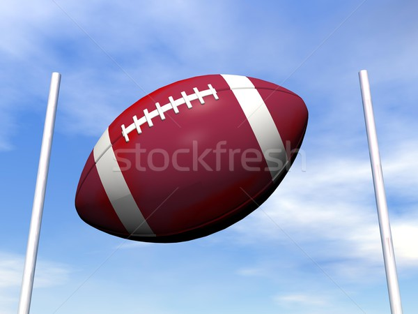 Rugby ball - 3D render Stock photo © Elenarts