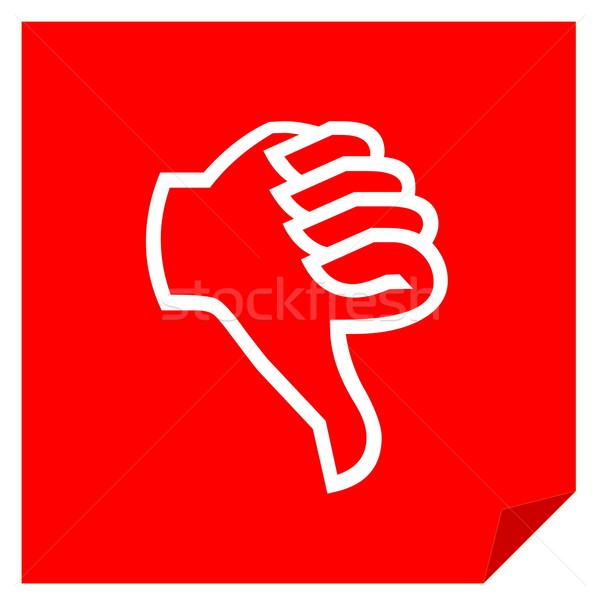 Aversión votación rojo icono blanco mano Foto stock © Elenarts