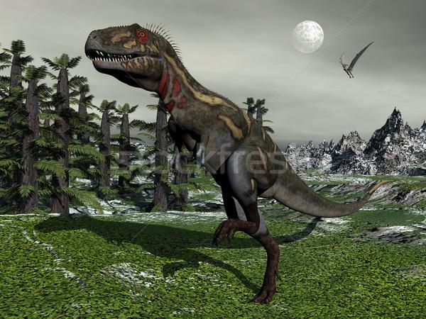 Nanotyrannus dinosaur - 3D render Stock photo © Elenarts