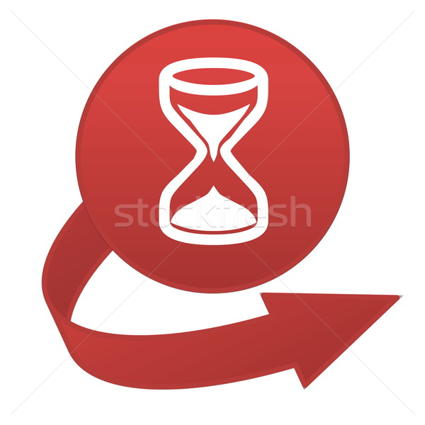 Hourglass arrow button Stock photo © Elenarts