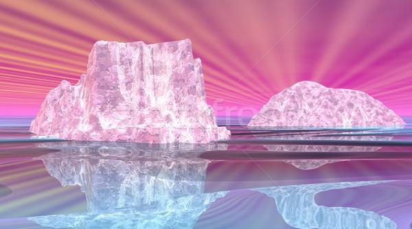 Surrealistic icebergs Stock photo © Elenarts