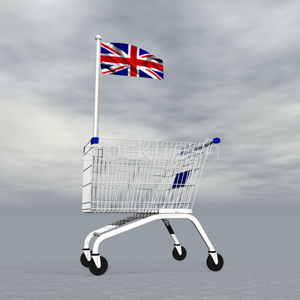 English shopping - 3D render Stock photo © Elenarts