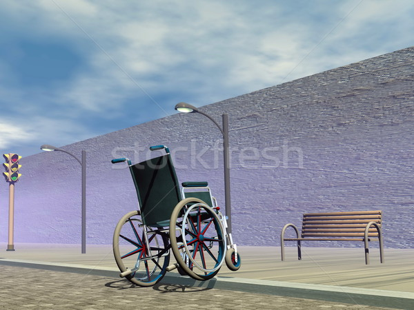 Obstacle for wheelchair - 3D render Stock photo © Elenarts