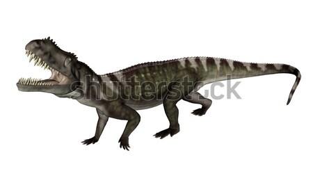 Prestosuchus dinosaur roaring - 3D render Stock photo © Elenarts